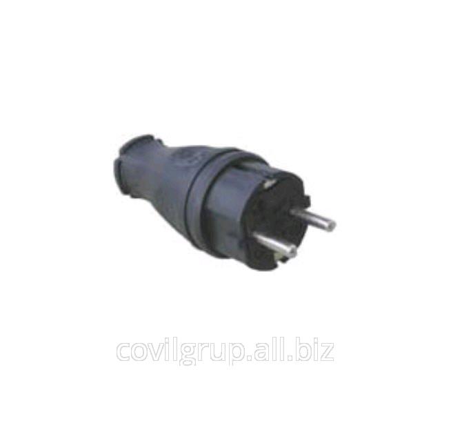 Plug T-Pl 1ph. 16A. (rubber)