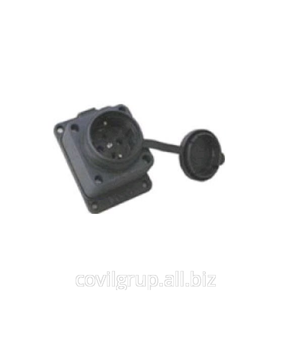 Socket T-Pl panel (small) straight 1ph. 16A.