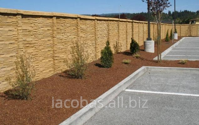 cumpără Gard din beton decorativ bilateral