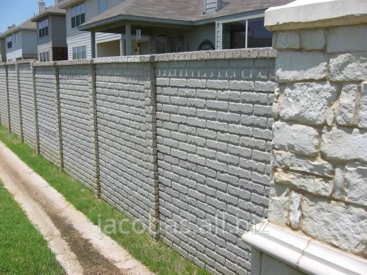 Купить Плиты бетонные для заборов, двухстороние