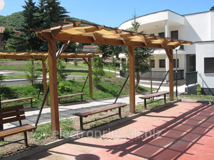 Buy Pergolas Landscape gardening furniture of the Arbour with an awning
