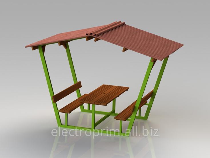 Купить Беседка Модель П11 Садово-парковая мебель Деревянные беседки