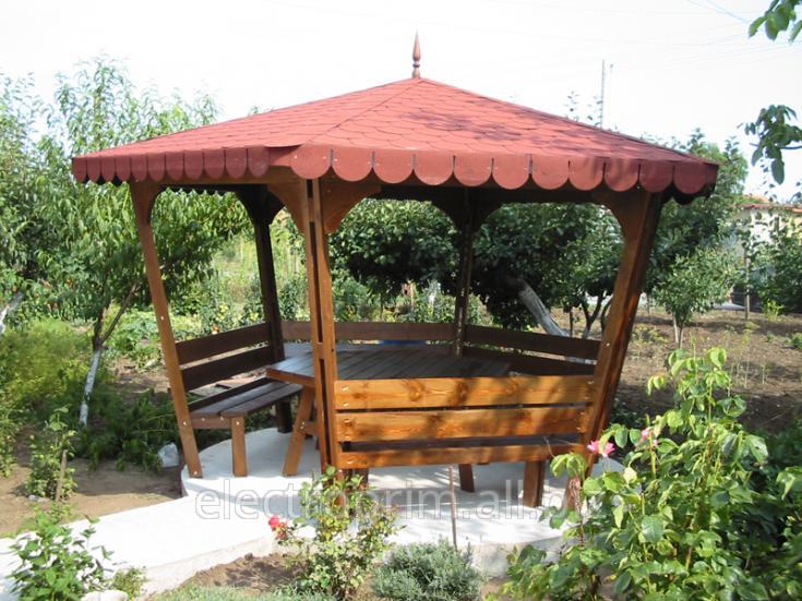 Купить Беседки Classic шестиугольный Садово-парковая мебель Деревянные беседки