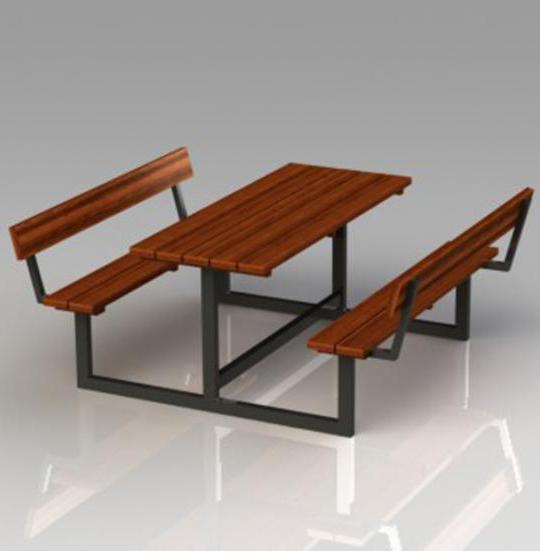 Купить Стол со скамейками Модель П28