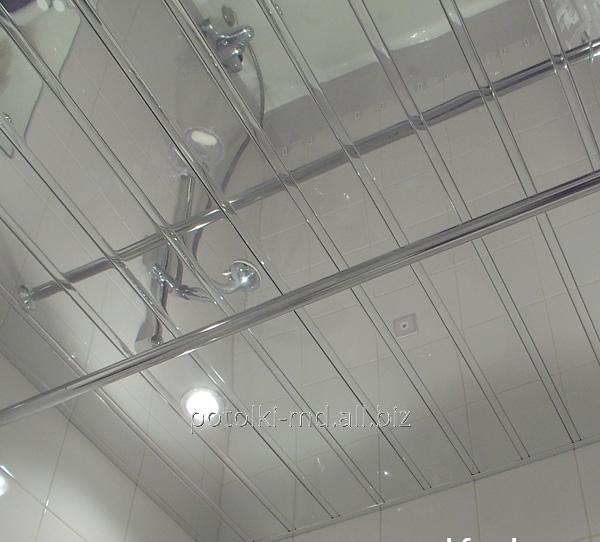 Потолки подвесные реечные из пластика