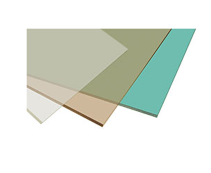 Buy Leaf flat polycarbonate with an anti-abrasive covering of PALGARD