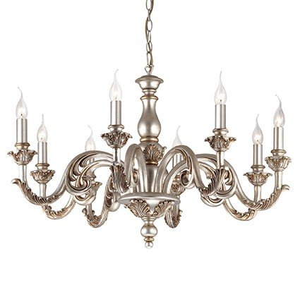 Chandelier of Ideal Lux Giglio Argento SP6