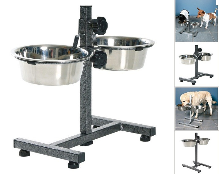 Buy The Trixie bowls on a support chromeplated for dogs