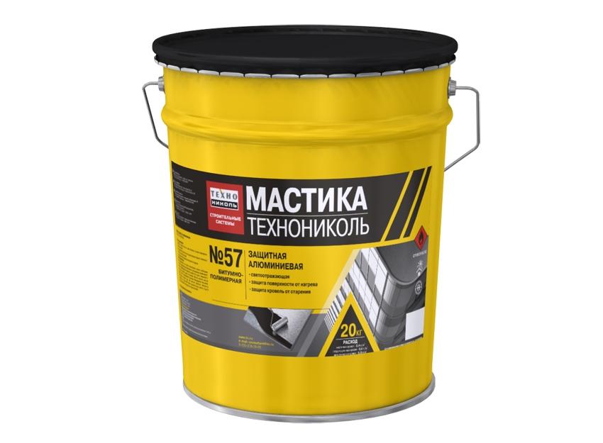Купить Мастика защитная алюминиевая ТЕХНОНИКОЛЬ № 57