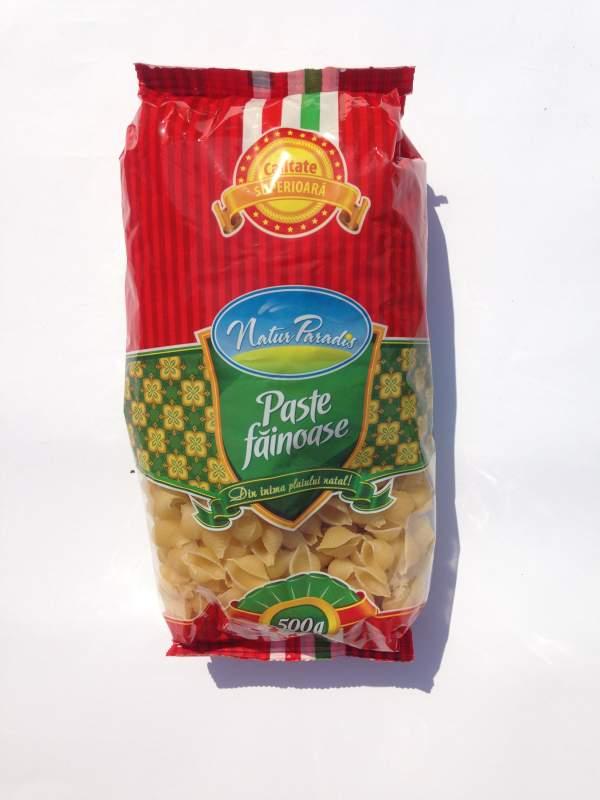 "Купить Макароны / Paste fainoase 0,5 кг ""Natur Paradis"" Scoici mari - LARGE SHELL"