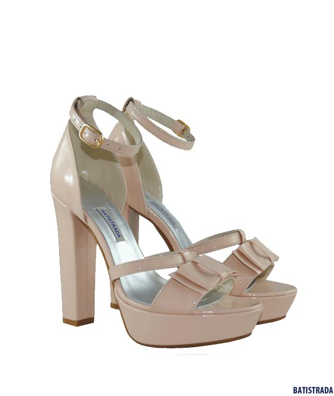 свадебная обувьлаковые босоножки от Batistrada розовыеpantofi De