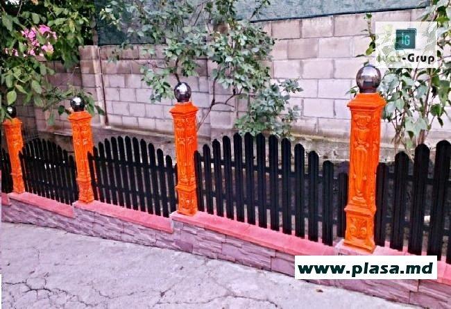 Металлический забор.Gard metalic in Moldova