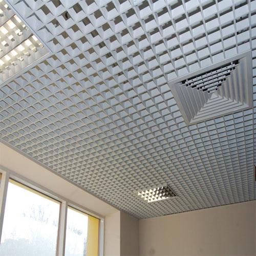 Ячеистый алюминиевый потолок грильято