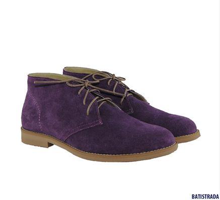 Купить Ботинки BATISTRADA из натуральной замши фиолетовые 649 леев