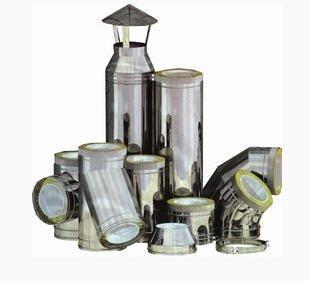 Дымоходы керамические ,трубы из нержавейки для дымоходов различных диаметров.