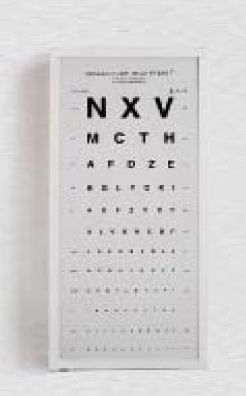 Buy The alphabetic table for check of sight with the illuminator