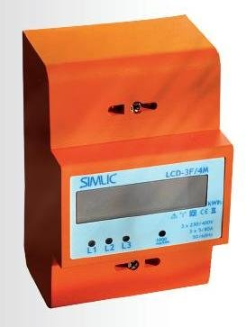 Electric power meter modular LCD 3F 4M 3 x 5A/80A