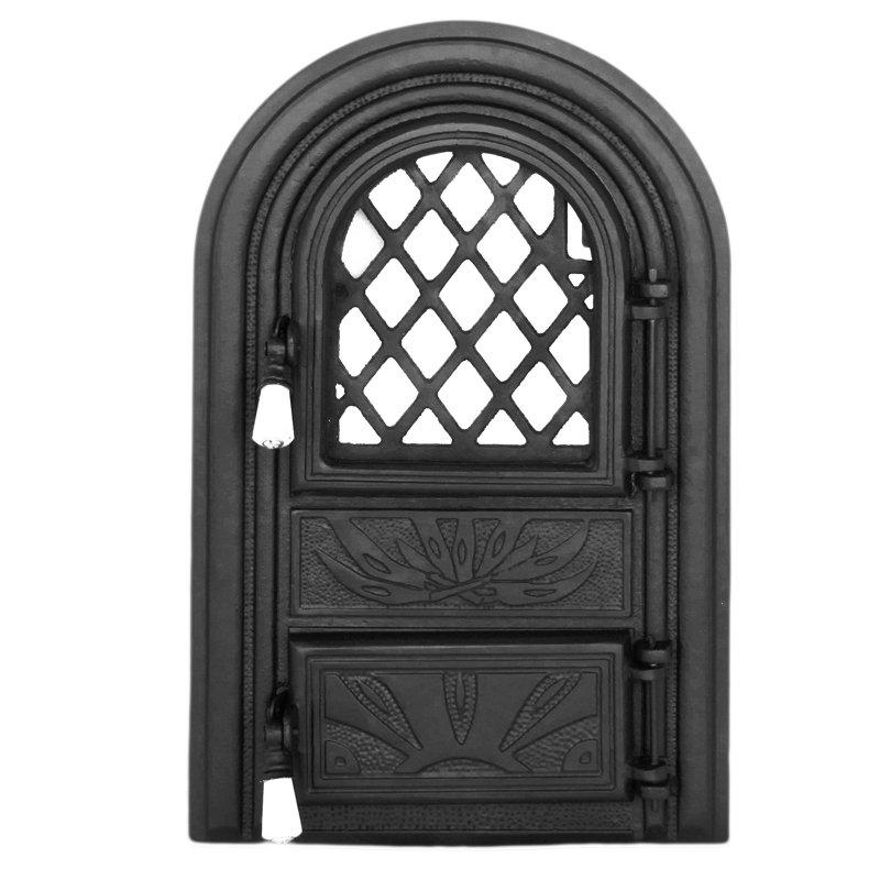 Двери для печей с огнеупорным стеклом