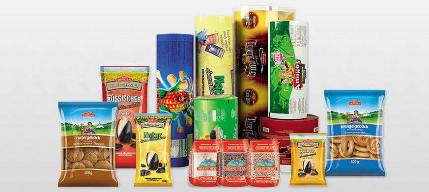 Гибкая упаковка для продуктов в рулоне