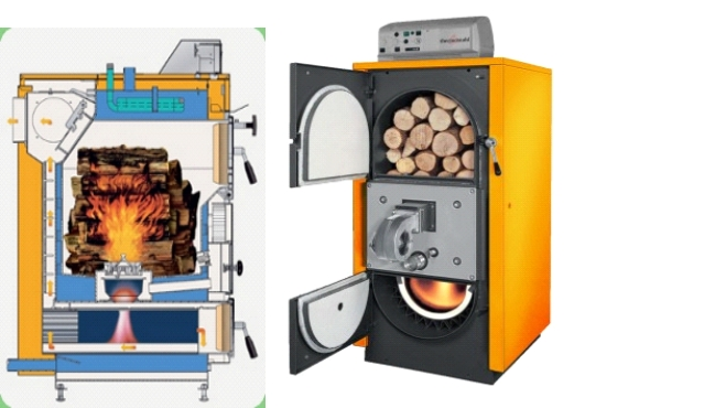 Купить Cazan cu ardere prin gazificare a lemnelor