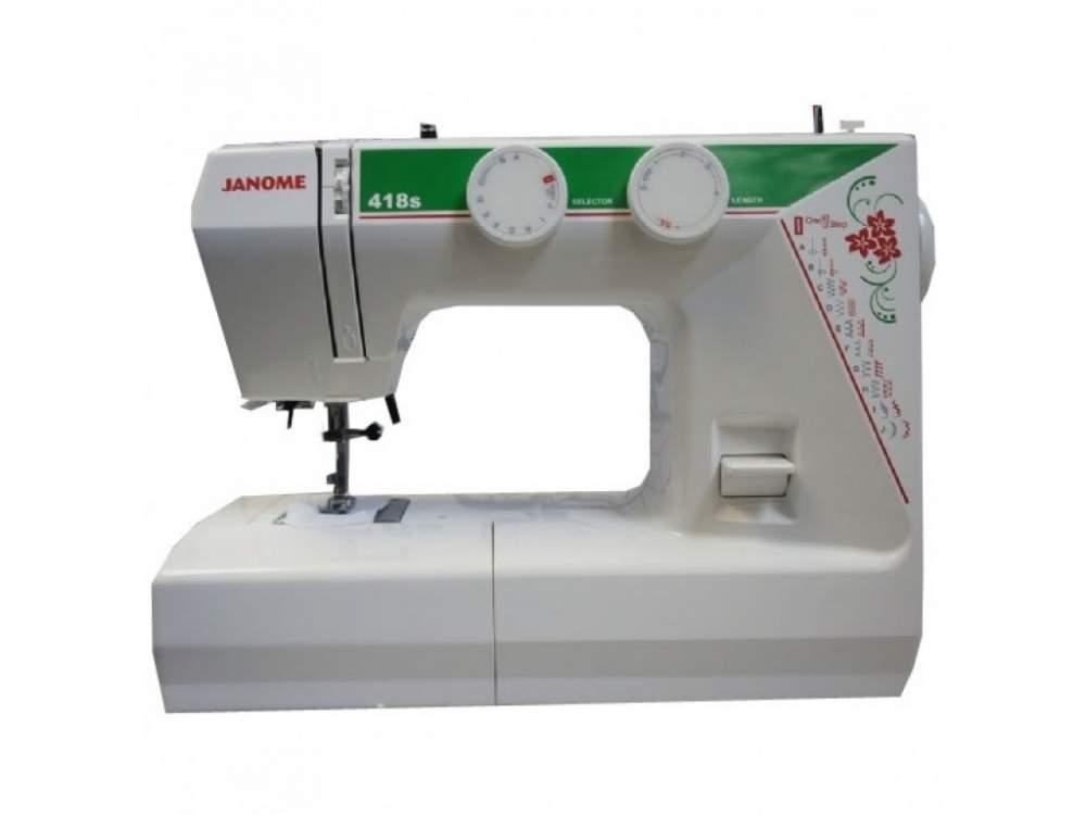Купить Машины бытовые швейные Швейная машина JANOME 418S (21 строчек, петля автомат, регуляторы длины стежка и ширины зигзага)