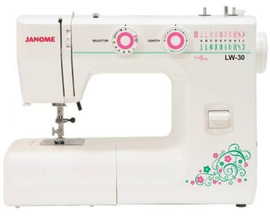 Купить Машины бытовые швейные Швейная машина JANOME LW-30 (19 строчек, петля автомат, регуляторы длины стежка и ширины зигзага)