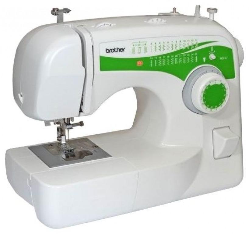 Купить Машины бытовые швейные Швейная машина BROTHER HQ-27 (25 строчек, нитевдеватель, регуляторы длины и ширины строчки)