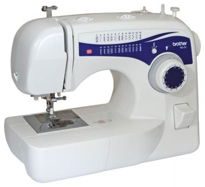 Купить Машины бытовые швейные Швейная машина BROTHER HQ-33 (25 строчек, петля автомат, нитевдеватель, регуляторы длины и ширины строчки)
