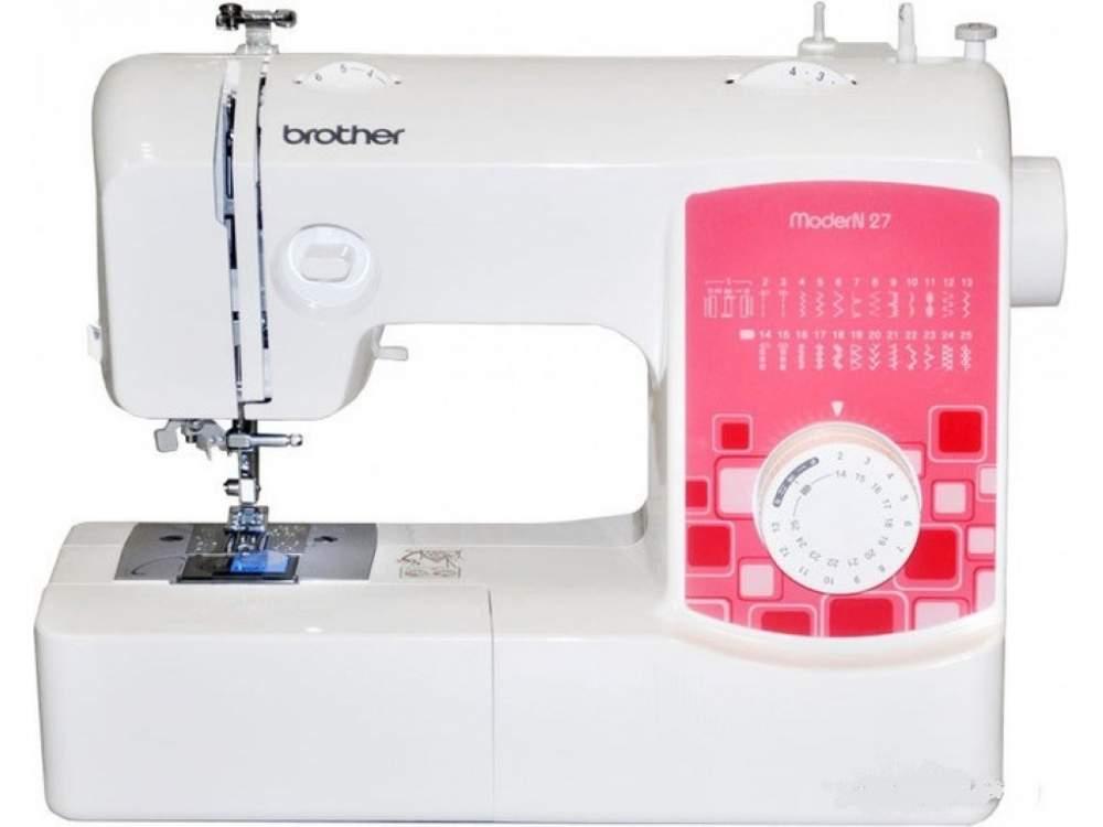 Купить Машины бытовые швейные Швейная машина BROTHER Modern 27 (25 строчек, нитевдеватель, регулятор длины стежка) New
