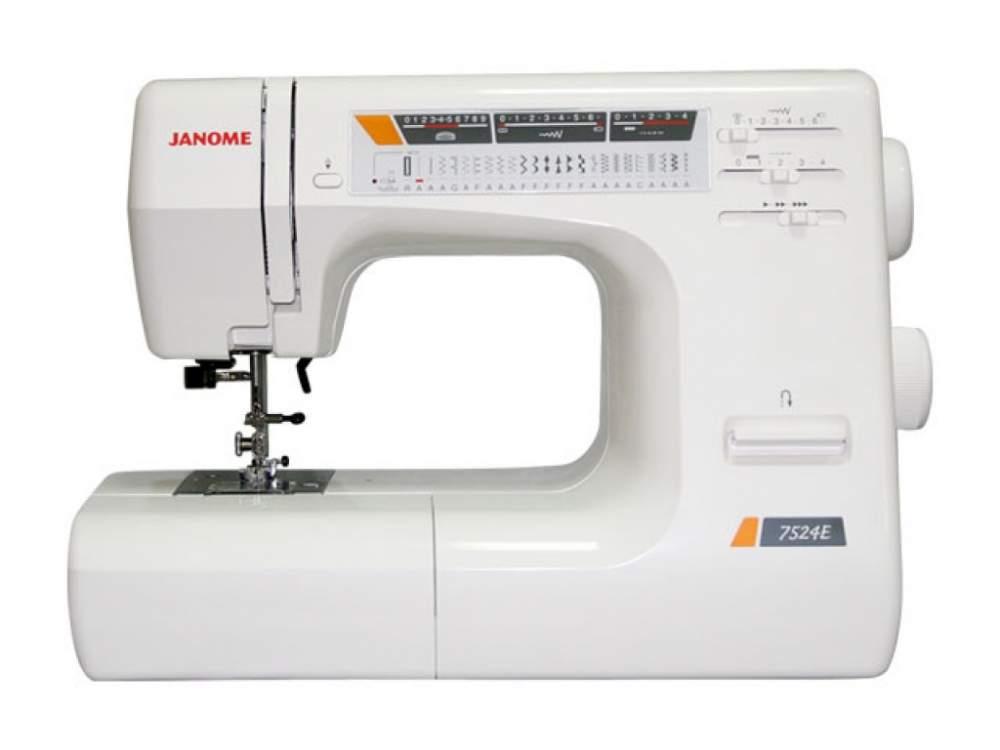 Купить Машины бытовые швейные Швейная машина JANOME 7524E (Позиционирование иглы, регулятор скорости шитья, 11 лапок)