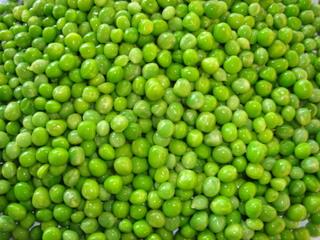 Quick-frozen green peas