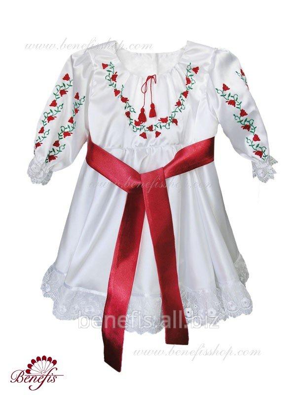 Платье для маленькой девочки в молдавском национальном стиле. J 0016
