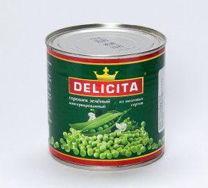 The green peas preserved / Mazare verde conservata