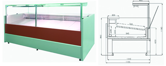 Buy Show-window refrigerating COLD W-Ps-k series