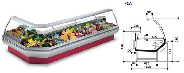 Show-window refrigerating COSTAN BELLINI 83 Series