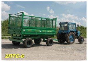 Купить Прицеп самосвальный тракторный 2ПТС-6