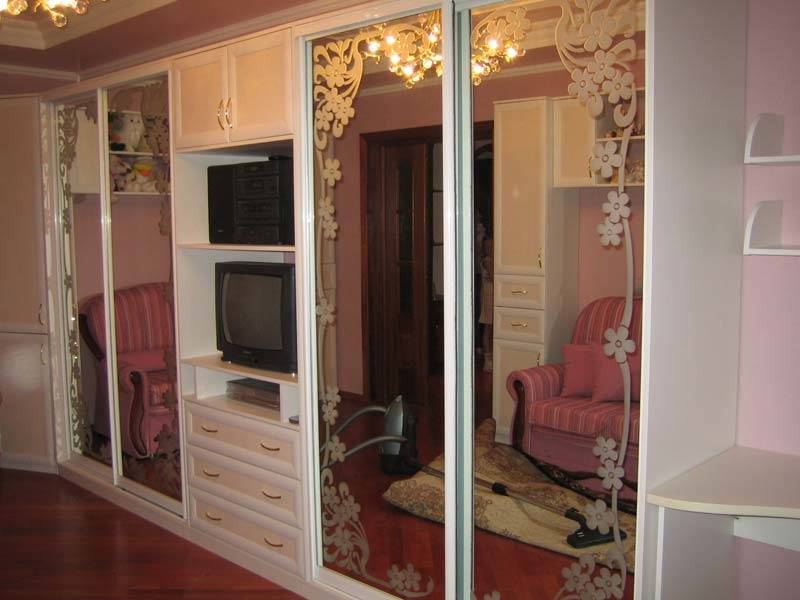 Купить Шкаф-купе в виде мебельной стенки