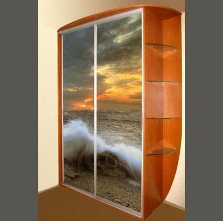 Купить Шкаф-купе с фотопечтью с морскими волнами