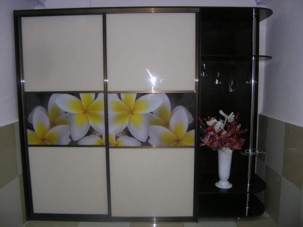 Купить Шкаф-купе с фотопечатью (бело-желтые цветы)