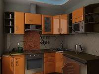 Купить Кухня светло-коричневая