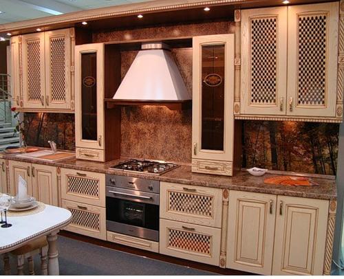 Купить Кухонный гарнитур светло-коричневый