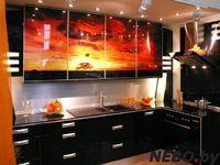 Кухня с фотофасадом (закат)
