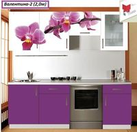 Купить Кухня с фотофасадом (цветок)