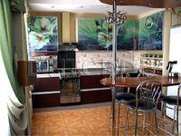 Купить Кухня с фотофасадом (светло-зеленые цветы)