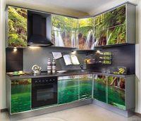 Купить Кухня с фотофасадом (водопад)