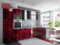 Купить Кухня с фотофасадом (красные розы)