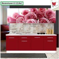 Купить Кухня с фотофасадом (розовые розы)