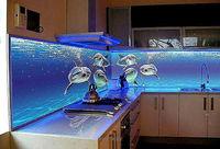 Купить Кухня с фотофасадом (морская тематика)