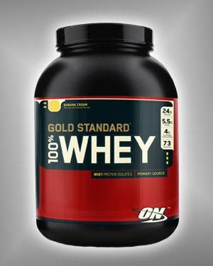 Купить Сывороточный протеин 100% WHEY GOLD 2,273г