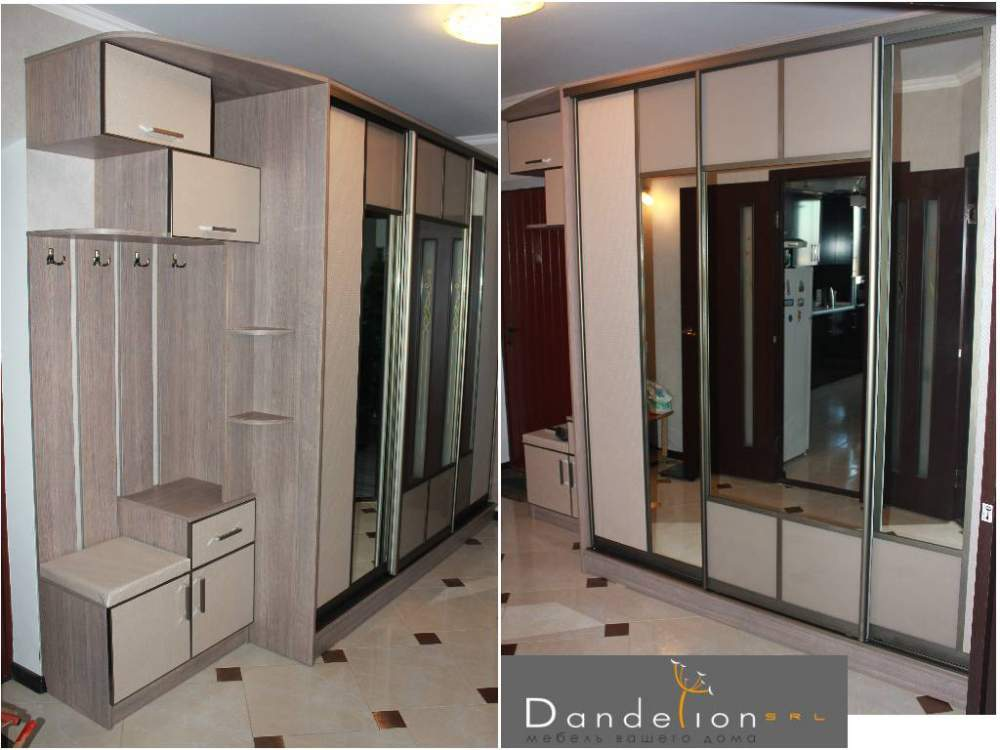 Buy Sliding wardrobe mirror with regiments in a hall